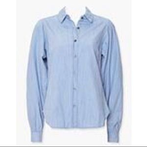 BNWT Forever 21 Cotton Curved-Hem Shirt in Large